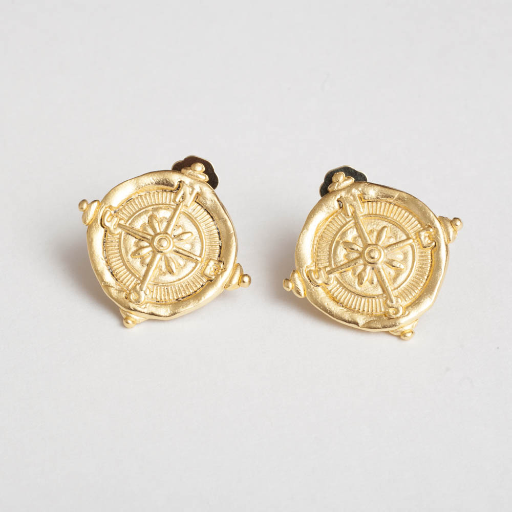 Compass Clip Earring