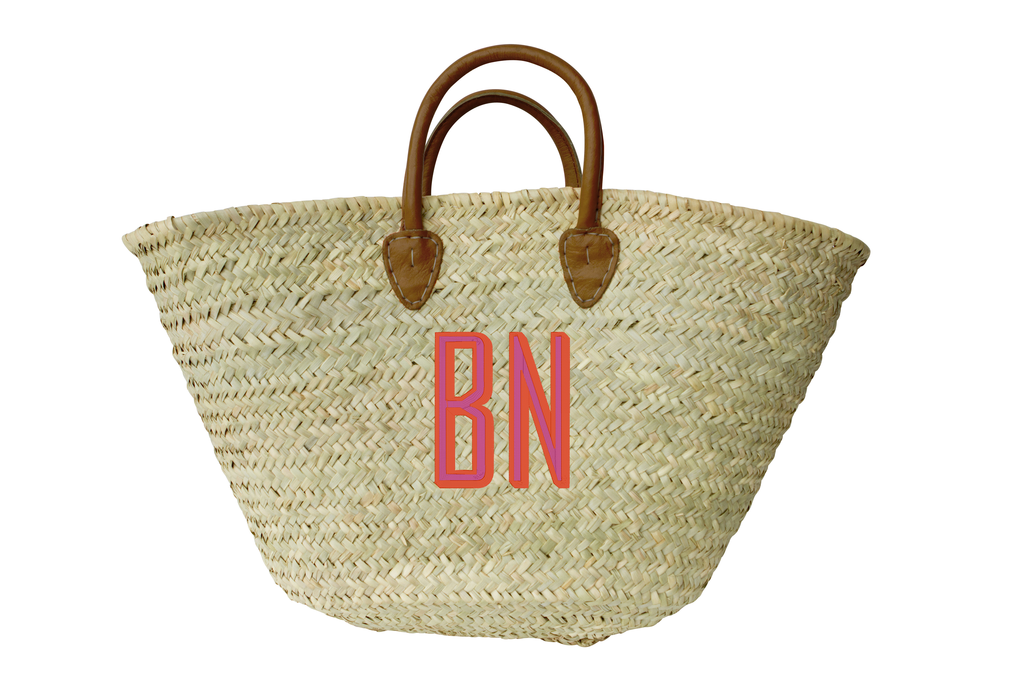 Monogrammed French Basket