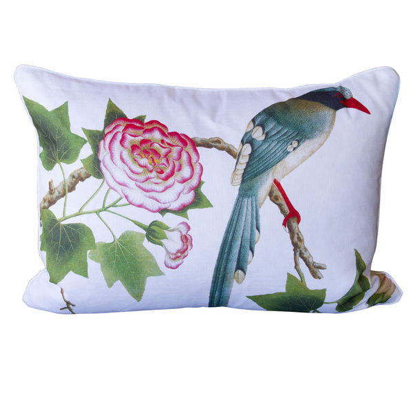 Bird and Rose Pillow