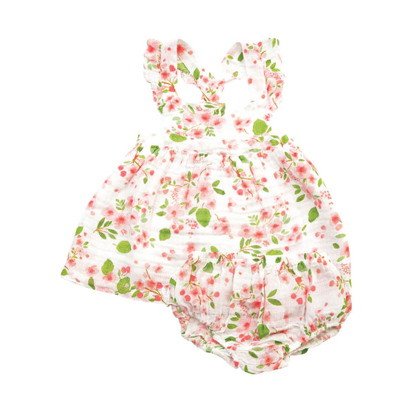Cherry Blossom Pinafore & Bloomer