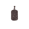 Pave Dog Tag