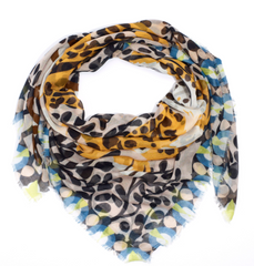 Charming Tiger Square Scarf