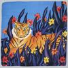 Tiger in the Grass Scarf