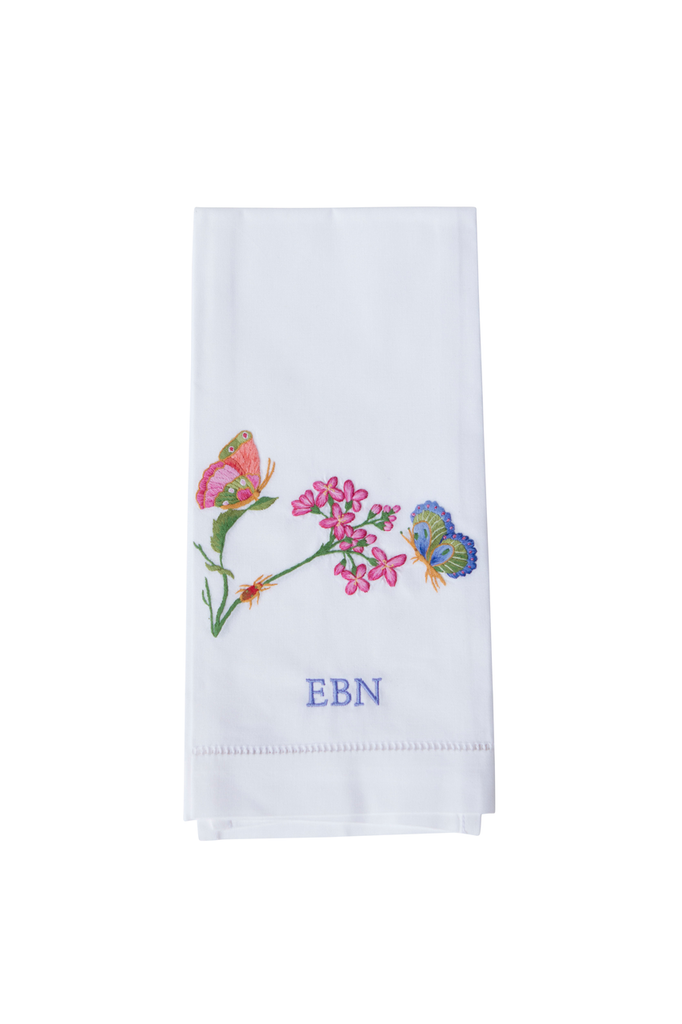 Butterflies and Flowers Guest Towel