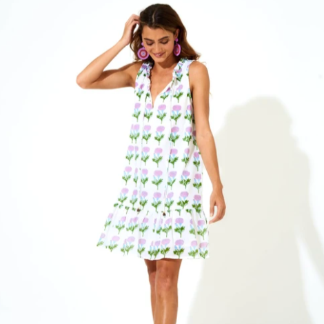 Bloom Ruffle Hem Dress