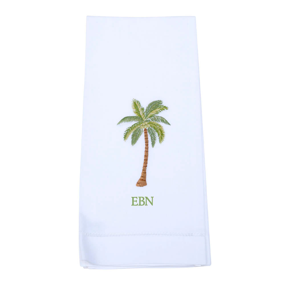 Palm Tree Guest Towel