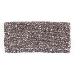 Beaded Fold Over Clutch