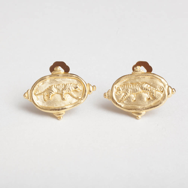 Tiger Clip Earring