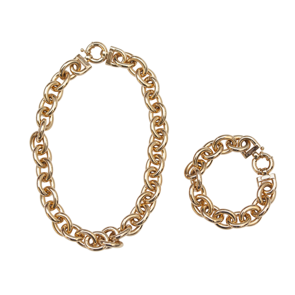Chain Necklace & Bracelet Set