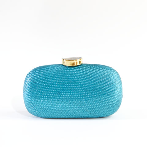 Sienna Straw Clutch