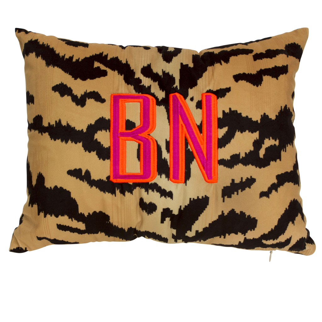 Tiger Print Lumbar Pillow