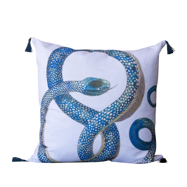 Blue Snake Pillow