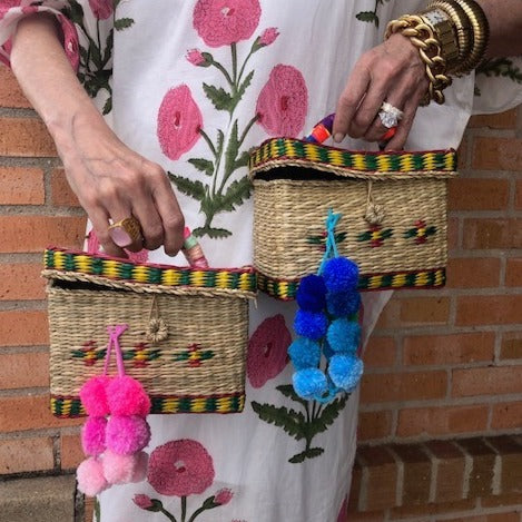 Pom Pom Box Bag