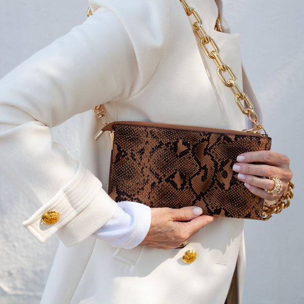 City Clutch Snakeskin