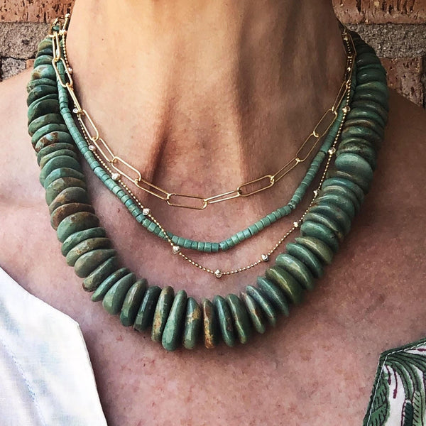 Large Heishi Turquoise Necklace