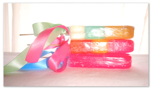 """ Pure Party"" Soap Popsicles"