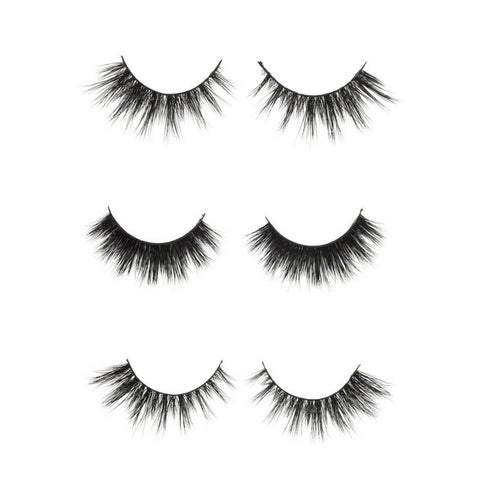 3 of our best selling mink eyelashes JOULE + BELLA + CARLI Mink eyelashes by VAIN Beauty // Max length. Medium volume. Wispy.