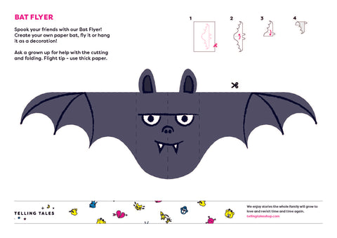 Halloween Activity Sheet - Bat Flyer