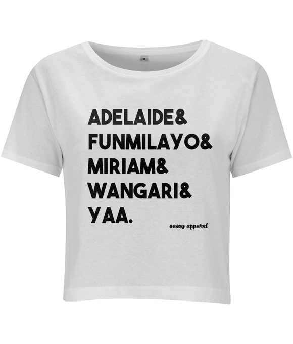 Crop Top African Revolutionary Women White / Small Clothing