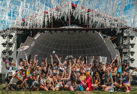 2019 Bass Coast Street Team In Front Of Main Stage