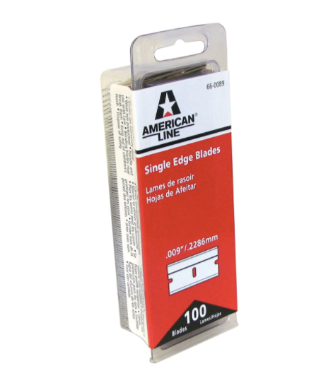 "Single Edge Razor Blade .009"" American Safety"