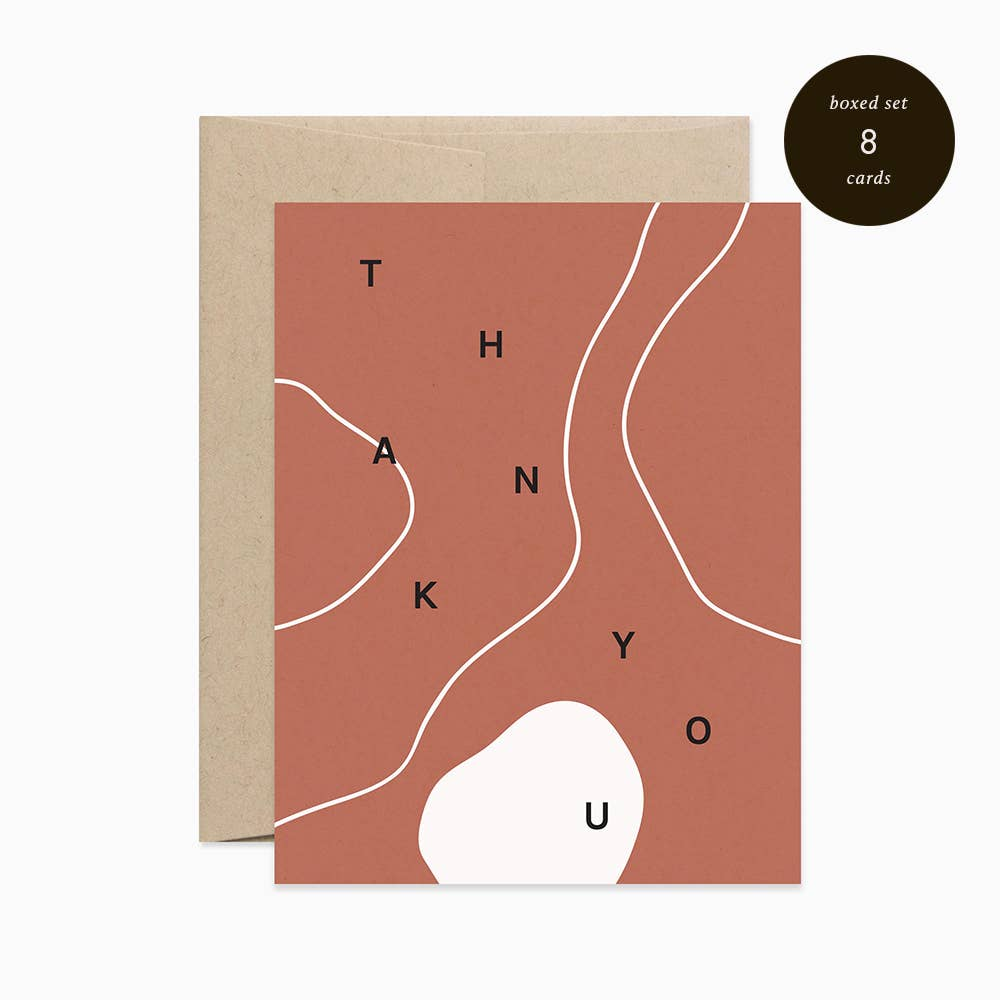 Thank You Terra-Cotta Greeting Cards - Set of 8 - Apt. F x Evermore Paper Co.