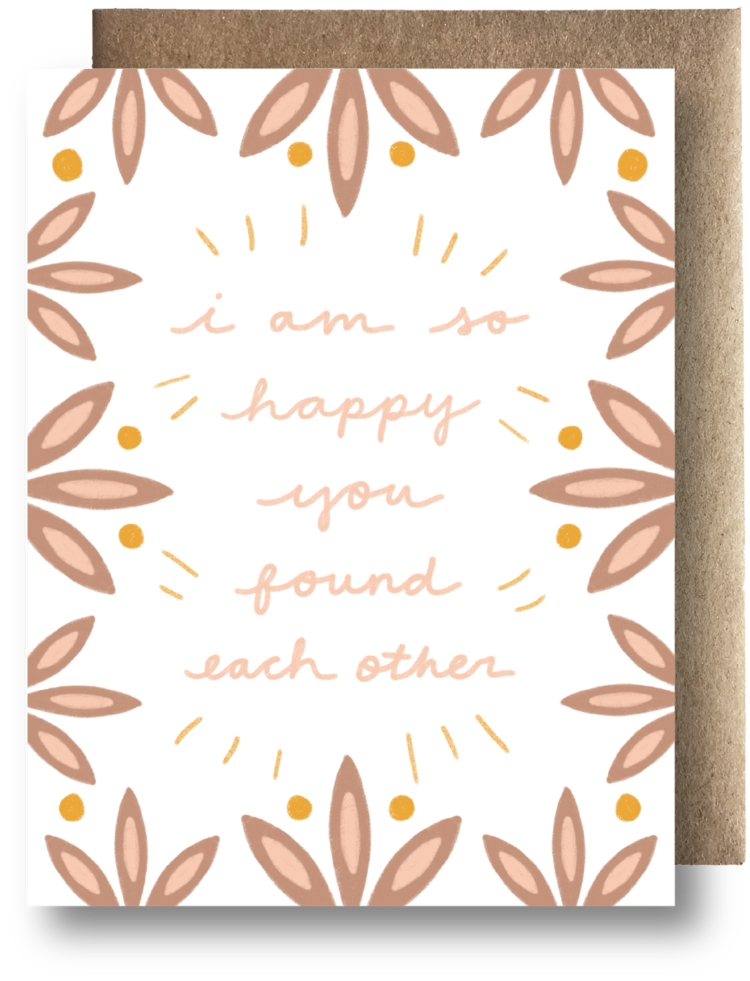 You Found Each Other Card - Apt. F x Maija Rebecca Hand Drawn
