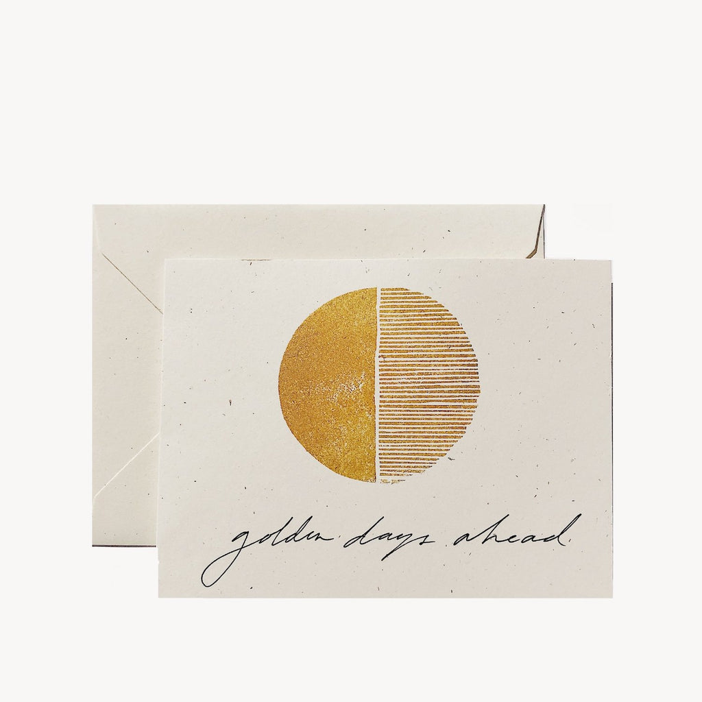 Golden Days Ahead Card - Apt. F x Wilde House Paper
