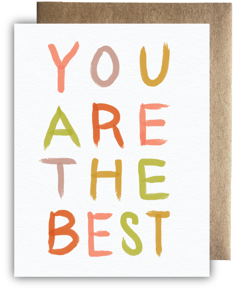 You are the Best Card - Apt. F x Maija Rebecca Hand Drawn