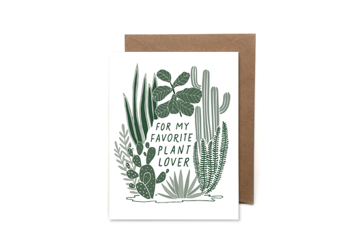 My Favorite Plant Lover Card - Apt. F x HeartSwell
