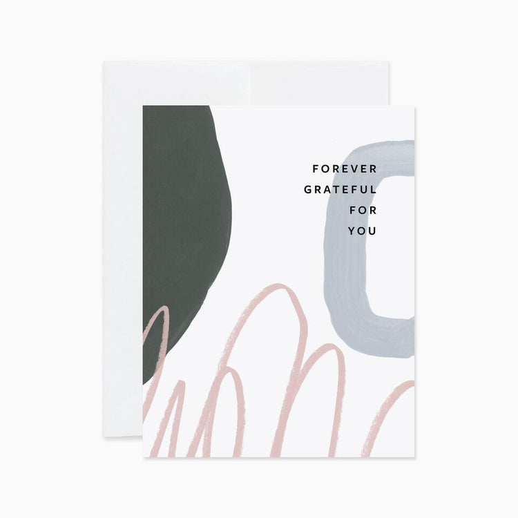 Forever Grateful Abstract Card - Apt. F x Evermore Paper Co.
