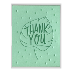 INK MEETS PAPER - Thank You Leaf - Greeting Card - APT F x INK MEETS PAPER