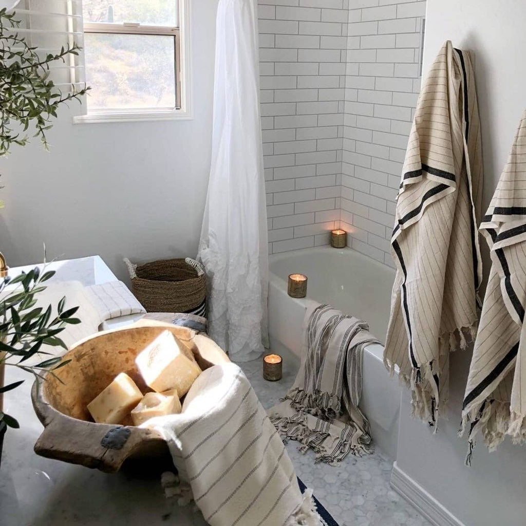 Silvia Turkish Cotton Bath Towel - Apt. F x The Loomia