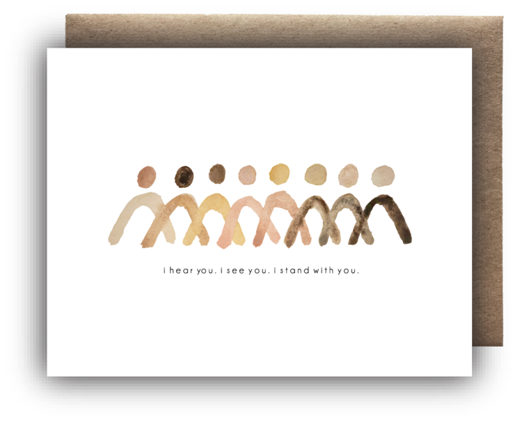 Standing Together Card - Apt. F x Maija Rebecca Hand Drawn