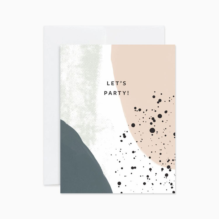 Let's Party Abstract Card - Apt. F x Evermore Paper Co.