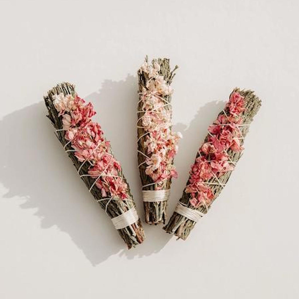 Cedar + Pink Larkspur Smudge Bundle - Apt. F x Black + Jane
