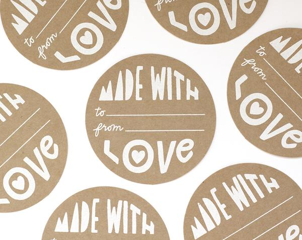 Made With Love Gift Sticker Set - APT F x Worthwhile Paper