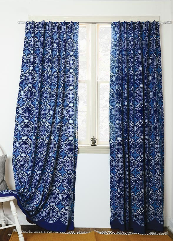 Greece Indigo Curtain - APT F x Ichcha