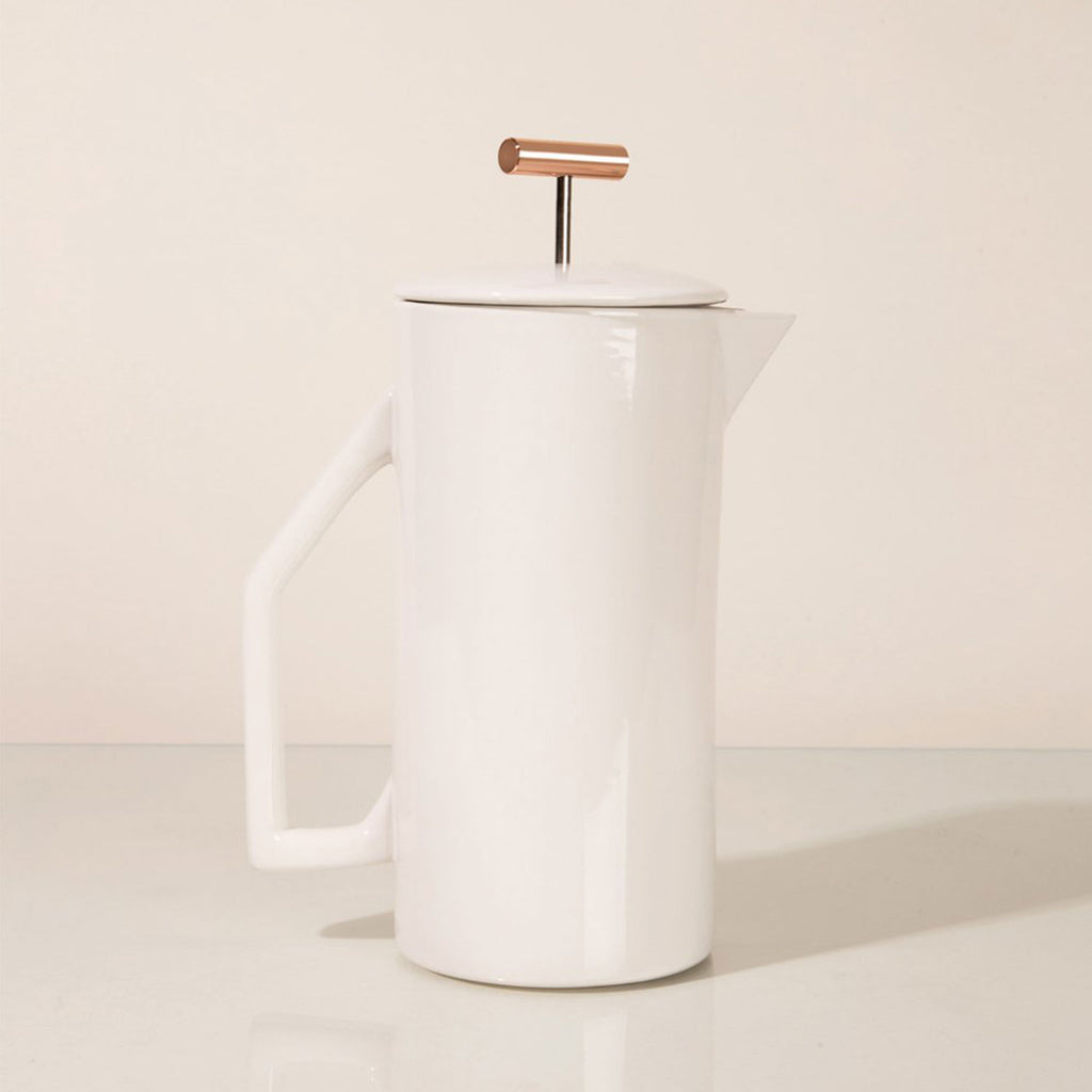 Cream Ceramic French Press - Apt. F x YIELD