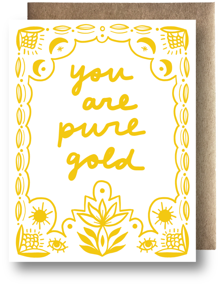 Pure Gold Greeting Card - Apt. F x Maija Rebecca Hand Drawn