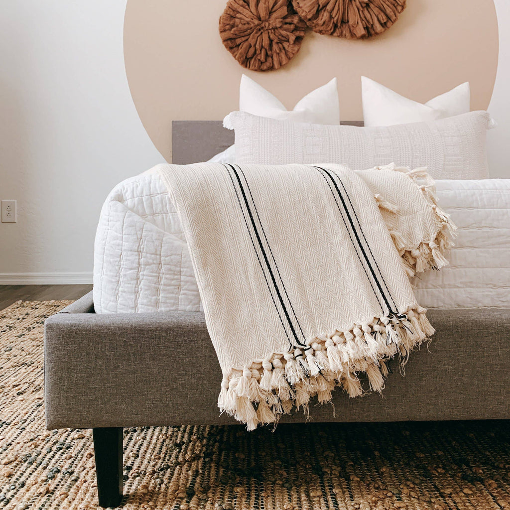 Sophie Turkish Cotton Blanket - Apt. F x The Loomia