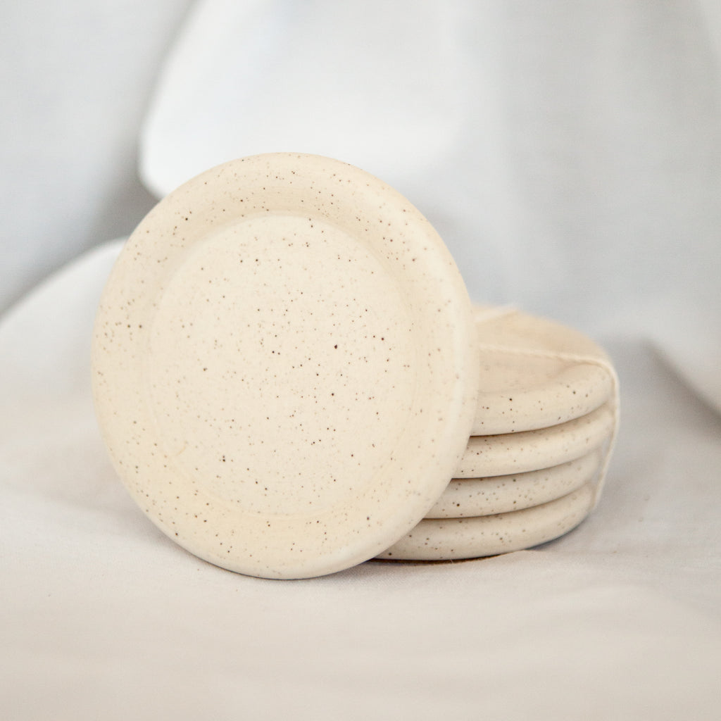 Speckled Ceramic Coaster Set - Apt. F x Tellefsen Atelier