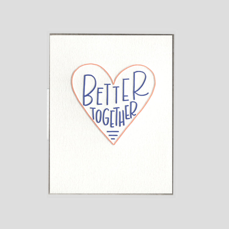 Better Together Greeting Card - APT F x INK MEETS PAPER