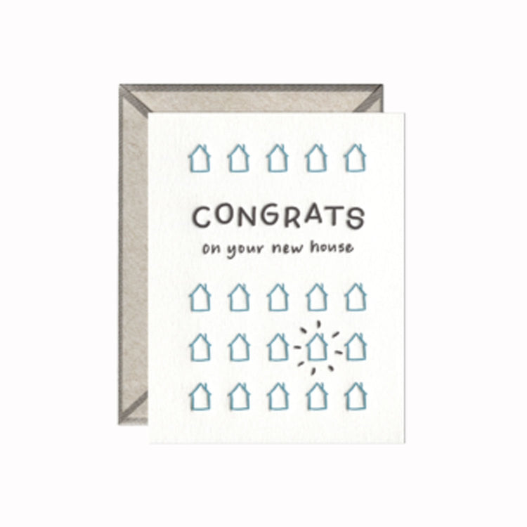 New House Congrats - Greeting Card - Apt. F x INK MEETS PAPER