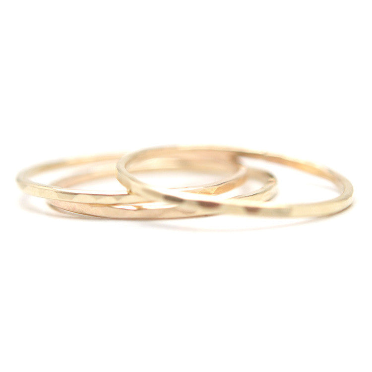 Hammered Slim Stacking Ring - APT F x Favor