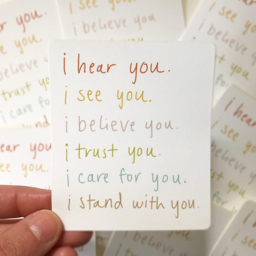 I Believe You Sticker - Apt. F x Maija Rebecca Hand Drawn