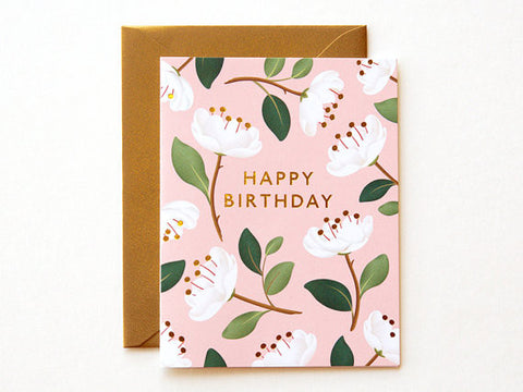Magnolia Birthday Card - APT F