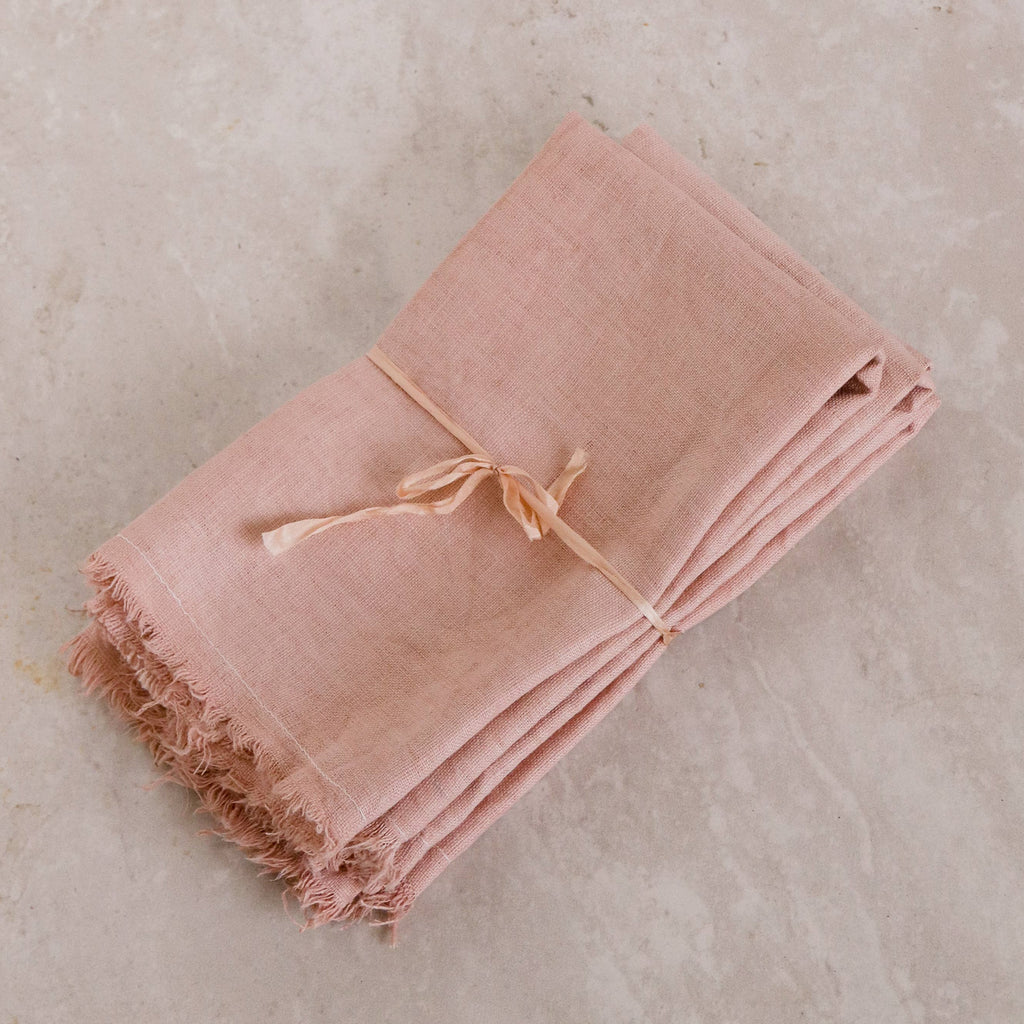 Mauve Naturally Dyed Linen Napkins (Set of 4) - Apt. F x Rosemarine Textiles
