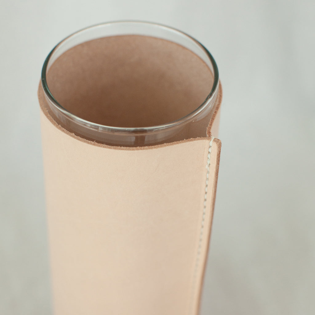Natural Leather Wrapped Vase - Apt. F x Good Medicine