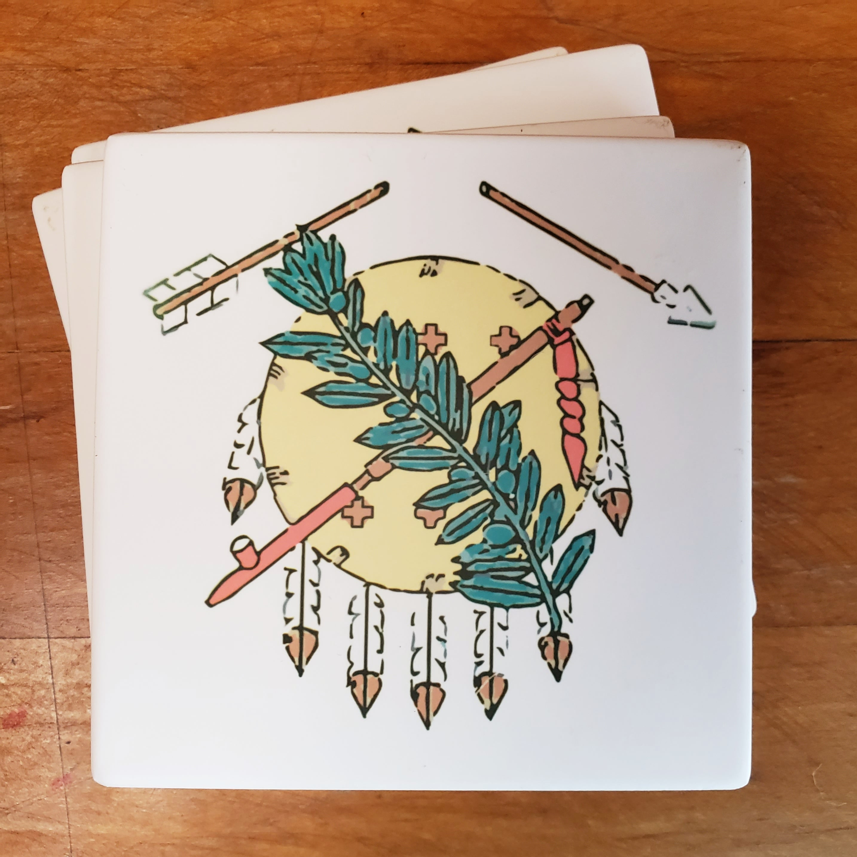 Broken Arrow Osage Shield Coasters